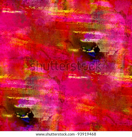 macro red pink seamless handmade watercolor background - stock photo