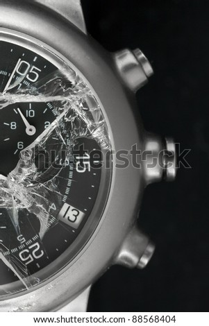 Macro shoot of Broken watch. See my portfolio for more - stock photo