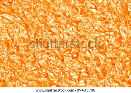 Macro shoot of crumpled metal foil texture. See my portfolio for more - stock photo