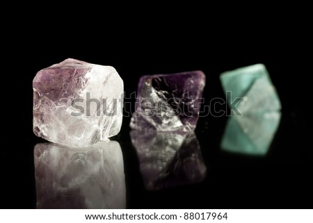 Macro shoot of fluorite crystal, See my portfolio for more - stock photo