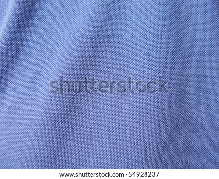 macro shot of a blue cloth texture - stock photo