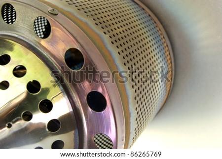Macro shot of a patio gas heater - stock photo