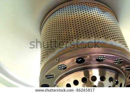 Macro shot of a restaurant gas patio heater - stock photo