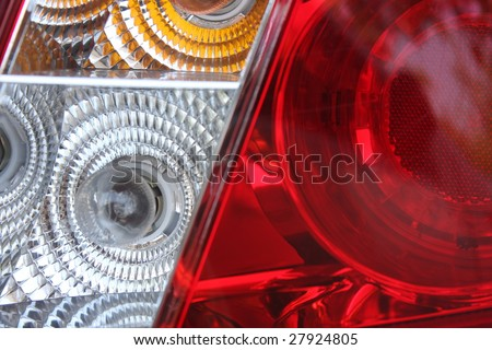 Macro shot of a tail lamp from a car - stock photo