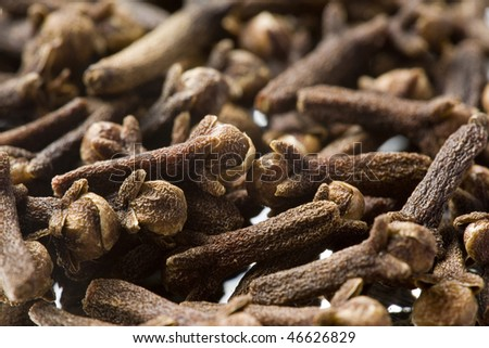 Macro shot of cloves. Background - stock photo