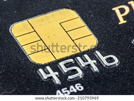 Macro shot of credit card - stock photo