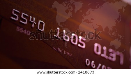 Macro shot of credit card. Shallow depth of Field - stock photo