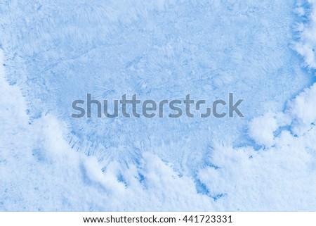 Macro shot of crystal ice background. - stock photo