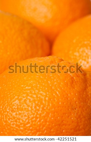 macro shot of fresh oranges fruits
