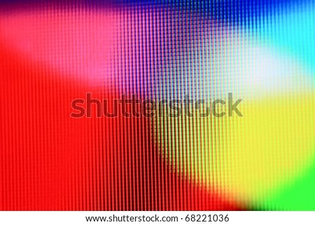 macro shot of lcd pixels CMYK/RGB - stock photo