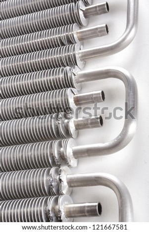 Macro shot of micro cooling component - stock photo