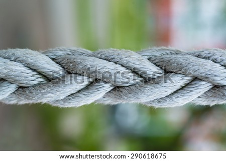 macro shot of ropes close up for web background - stock photo