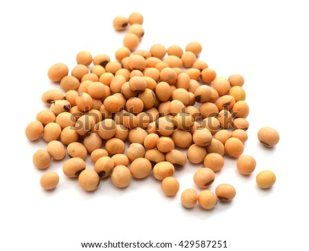 Macro shot of soybeans fills the frame