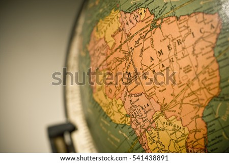 Macro shot wold globe focus on stock photo royalty free 541438891 macro shot of wold globe with focus on south america and the amazon river gumiabroncs Image collections
