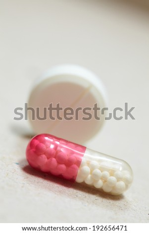 macro shots of tablets and capsules