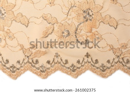 macro texture beige lace with embroidery studio
