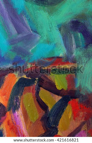 macro texture for background fragment oil paintings