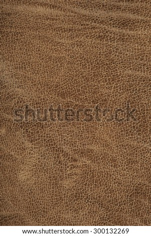 macro texture fragment brown leather studio - stock photo