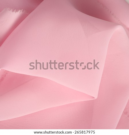 macro texture fragment of tissue pale pink - stock photo
