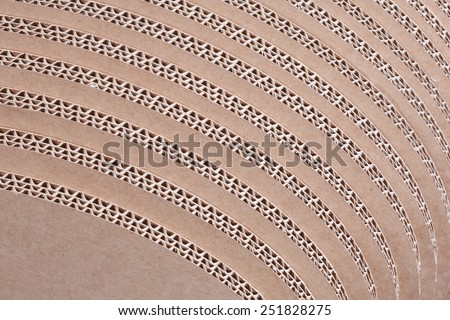 Macro texture of cardboard in the sectional of the folded in several layers - stock photo