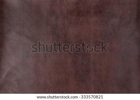 Macro texture of genuine  leather - stock photo