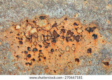 macro texture of rusty metal in natural light - stock photo
