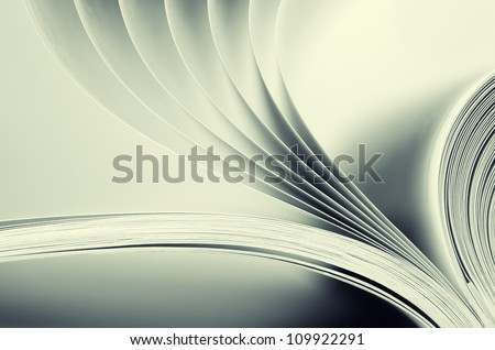 Macro view of book pages. Toned - stock photo