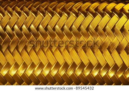 Macro view of gold fiber - stock photo