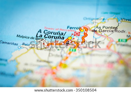 Macro View La Coruna Spain On Stock Photo 350108504 Shutterstock