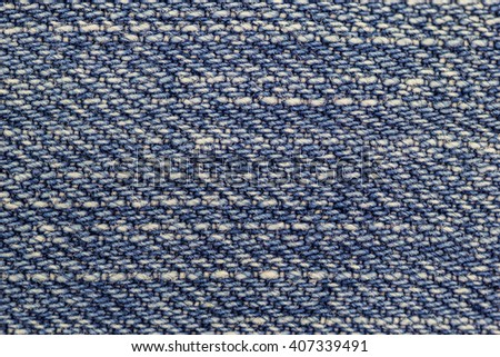 Macro view on blue and white denim