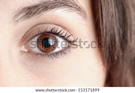 Macro Woman's Eye.  - stock photo