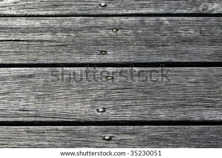Macro Wooden Jetty Planks - stock photo