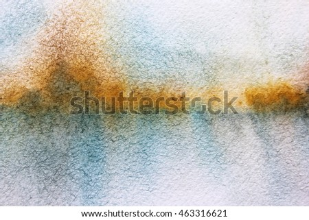 Macro Yellow Blue and White Watercolor Textures