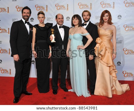 Mad Men stars at the 67th Golden Globe Awards at the Beverly Hilton Hotel. January 17, 2010  Beverly Hills, CA Picture: Paul Smith / Featureflash