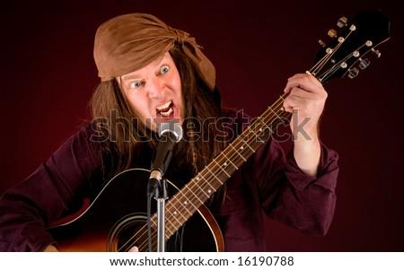 Mad Rocker - stock photo