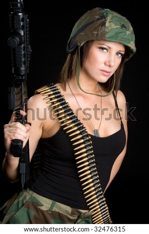 Mad Soldier - stock photo