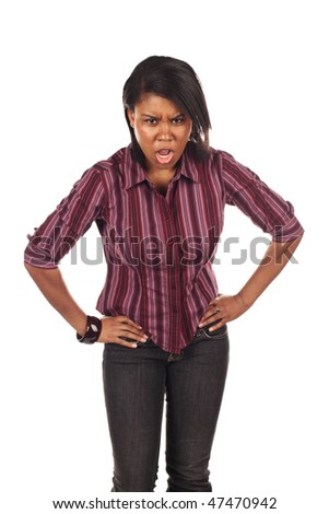 Mad woman - stock photo