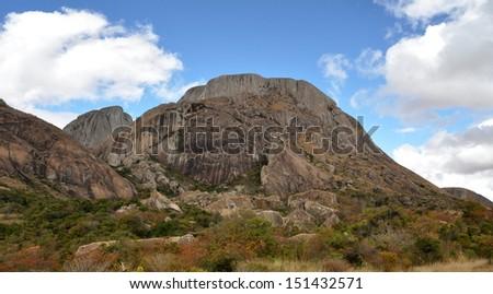 Madagascar landscape - stock photo