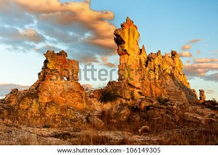 Madagascar's Rock on the sunset - stock photo