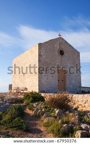 Madalene church at Dingli Cliffs. Malta - stock photo