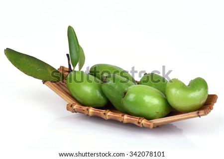 Madan (thai name), (Garcinia schomburgkiana Pierre.) Fruit native of Thailand medicinal properties. - stock photo
