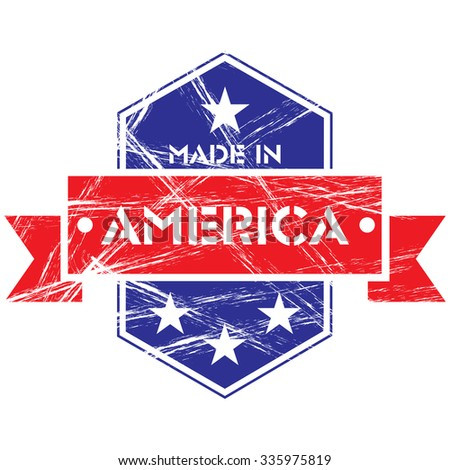 Made in America grunge badge