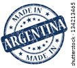 made in argentina stamp - stock photo