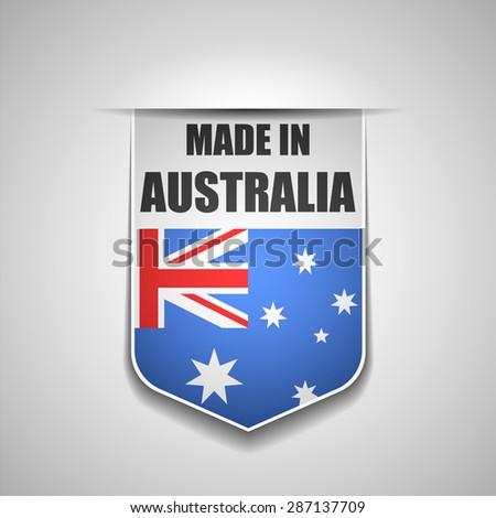 Made in Australia - stock photo
