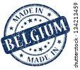 made in belgium stamp - stock photo