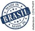made in Brasil stamp - stock photo