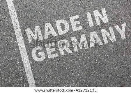 Made in Germany product quality marketing company concept - stock photo