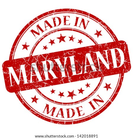 made in maryland stamp - stock photo