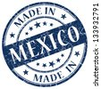 made in mexico stamp - stock photo