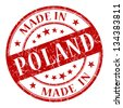 made in poland stamp - stock vector